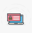 laptop login and password vector image vector image