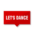 lets dance red tag vector image vector image