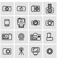 line photo icon set vector image vector image