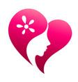love beauty logo vector image vector image