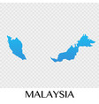 malaysia map in asia continent design vector image
