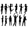 male and female silhouettes people set vector image vector image