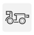motocycle icon black vector image