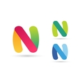 N letter logo icon template vector image vector image