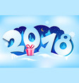 new year 2018 greeting card vector image