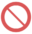 No sign on white vector image vector image