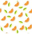 orange lemon on white background seamless vector image vector image