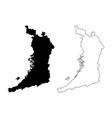 osaka prefecture map vector image