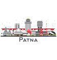 patna india city skyline with gray buildings vector image vector image