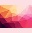 pink yellow geometric background vector image vector image