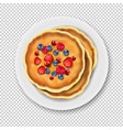 plate with pancake isolated transparent background vector image