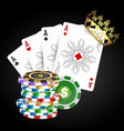 playing cards and casino chips vector image