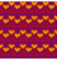 Red chain of hearts seamless pattern vector image vector image
