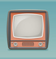 retro vintage old tv placeholder frame icon vector image vector image