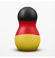 Russian tradition matrioshka dolls in Germany flag vector image
