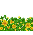 saint patrick s day border with green and gold vector image vector image