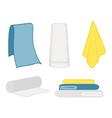 set of clean towel vector image