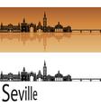 Seville skyline in orange vector image vector image