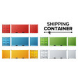 shipping cargo container set freight vector image vector image