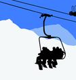 ski lift snowboarders skiers vector image vector image
