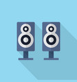 speaker icon set of great flat icons with style vector image