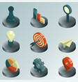 startup color isometric icons vector image vector image
