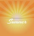 sun sunburst pattern and stylish summer background vector image vector image