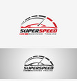 super speed - auto tune up logo template vector image