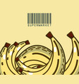 sweet bananas super market products vector image vector image