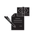 technical financial report black concept vector image vector image