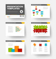 template for presentation slides 6 vector image