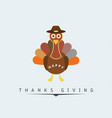 thanksgiving day poster beautiful cartoonic vector image