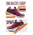 two sneakers logotypes vector image vector image