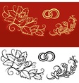 Wedding Ornament vector image vector image