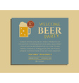 Beer party poster invitation template with glass vector image