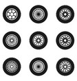 car tyre set vector image