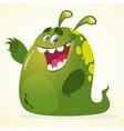 cartoon green blob monster vector image