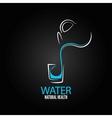water glass bottle design menu background vector image