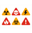 triangular hazard warning signs vector image