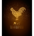 2017 New Year background with rooster symbol vector image