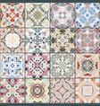 a collection of ceramic tiles vector image vector image