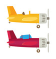 airplane flat vector image vector image