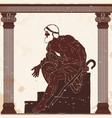 ancient greek old man vector image