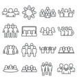 audience customer icons set outline style vector image vector image