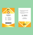 awesome id card 3 vector image vector image