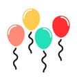 baby balloon color icon design sign vector image vector image