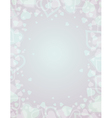 background with frame of heart vector image vector image