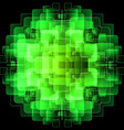 Background with green digital screens vector image