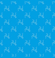 bikini top pattern seamless blue vector image vector image
