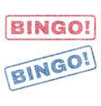 bingo exclamation textile stamps vector image vector image